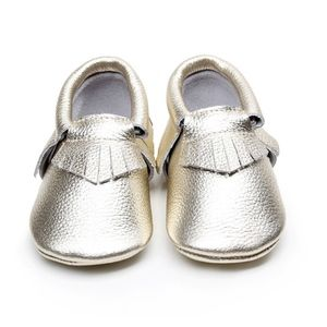 Other - Leather Gold Soft sole baby moccasins